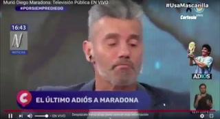 Desgarrador: Goycochea se quebró en lágrimas en pleno programa en vivo al recordar a su amigo Diego Maradona