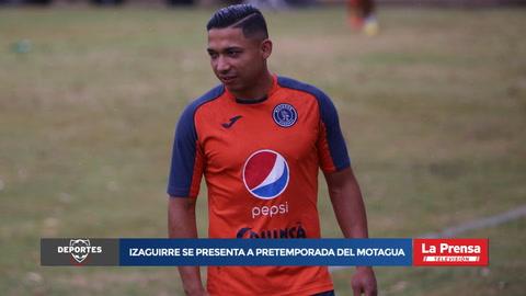 Emilio Izaguirre se presenta a pretemporada del Motagua