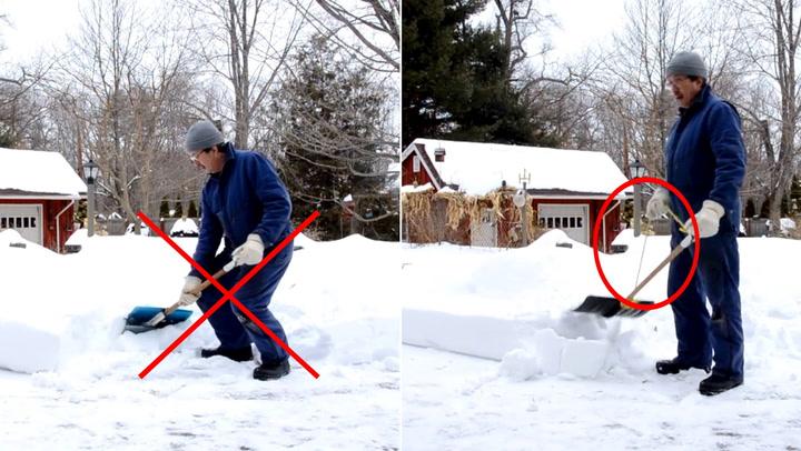 Så lett unngår du ryggplager etter snømåking