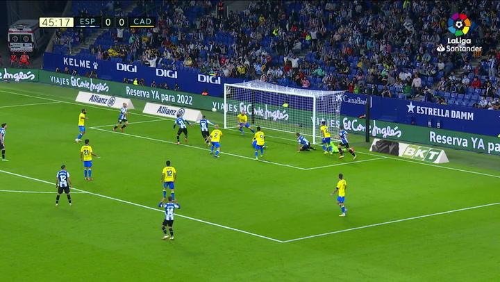 Gol de Raúl de Tomás (1-0) en el Espanyol 2-0 Cádiz