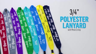 3-4 Inch Polyester Lanyard with Metal Crimp