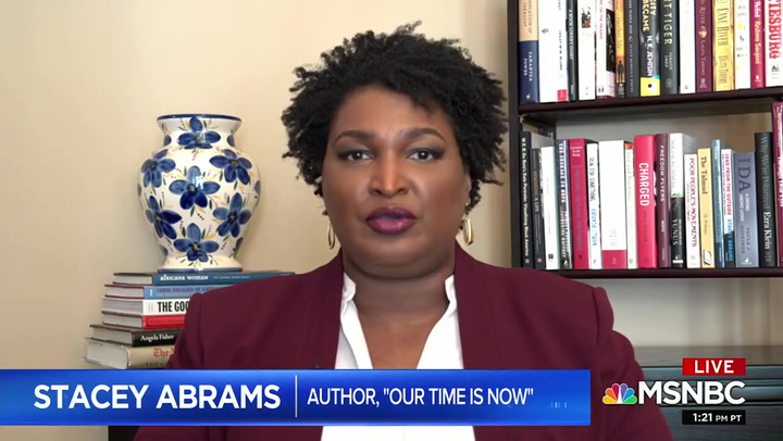 Stacey Abrams: November Election a 'Referendum' on 'Coward' Trump or 'Man of Courage' Biden