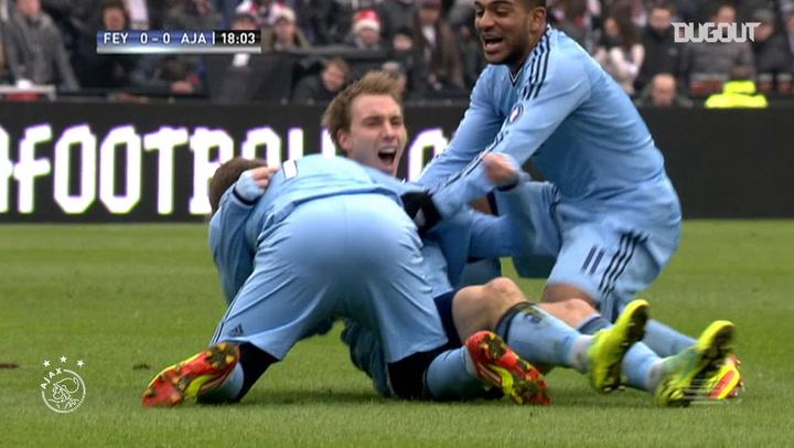 Christian Eriksen's long-distance strike vs Feyenoord