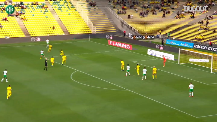 Yvann Macon's first goal with Saint-Etienne