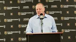 Golden Knights coach Gerard Gallant on his team's offense