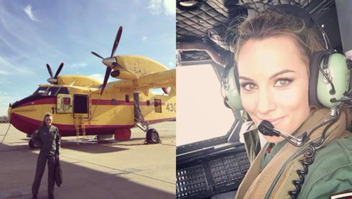 Las impactantes imágenes de Edurne durante su 'trabajo temporal' en el Ejército del Aire