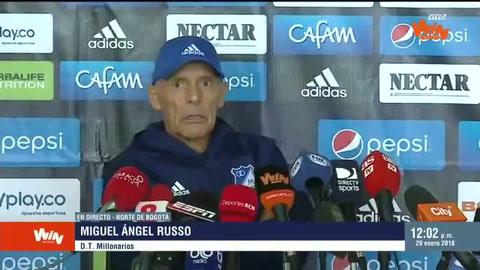 La emoción de Miguel Ángel Russo en su regreso a Millonarios