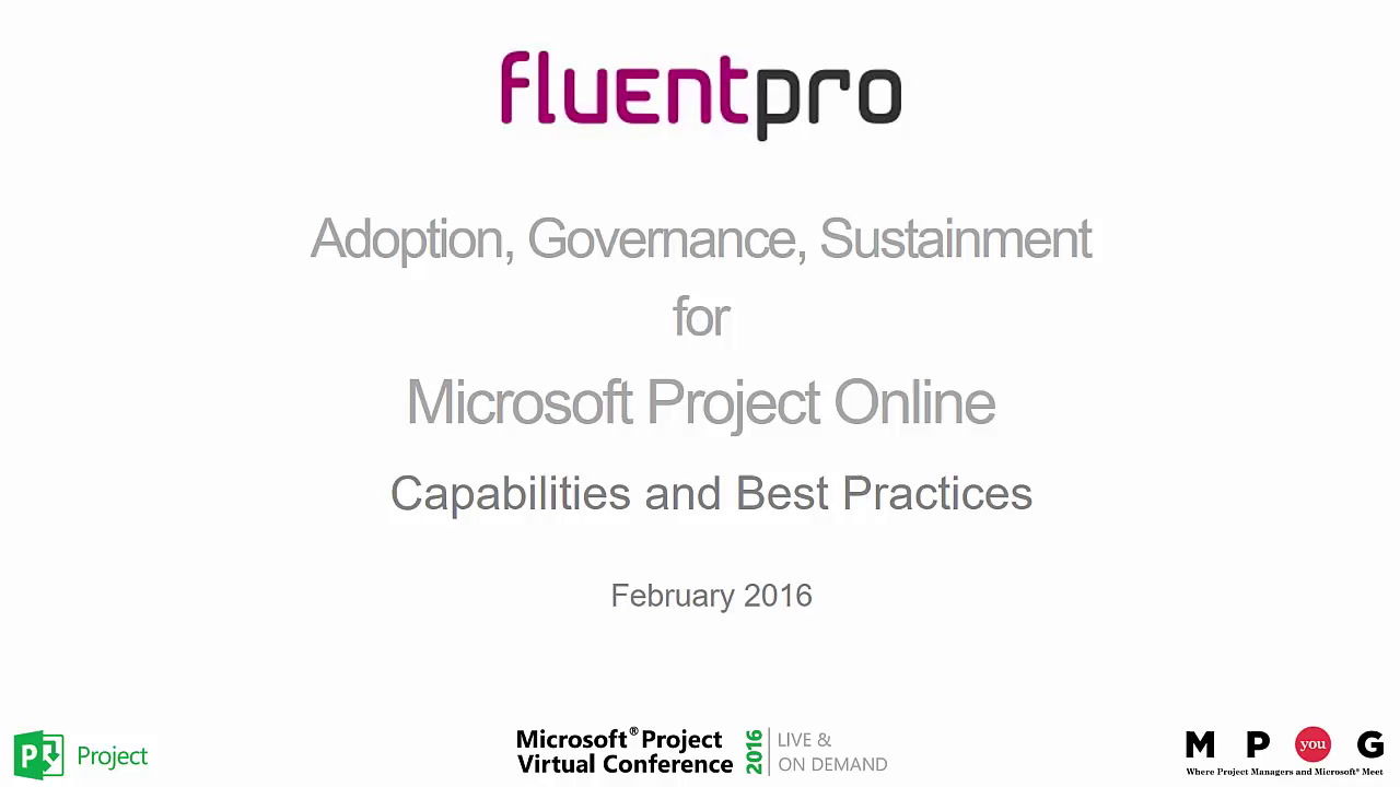 Microsoft Project Online: Adoption, Governance, Sustainment