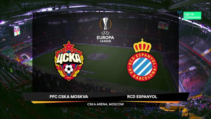 Europa League: Resumen y Goles del Partido CSKA-Espanyol