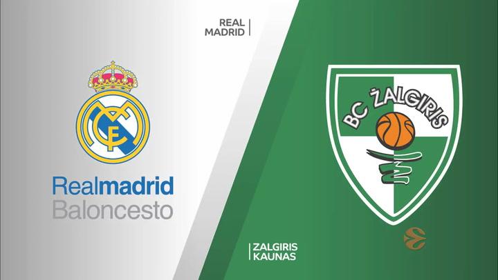 Euroliga: Real Madrid - Zalgiris Kaunas