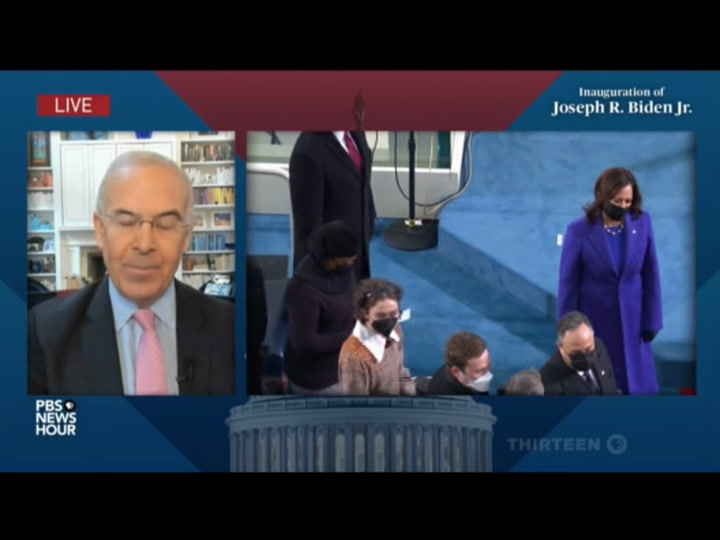Watch: David Brooks Tears Up Over Biden Inauguration