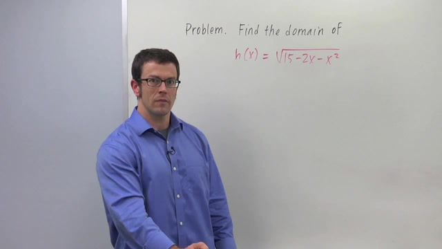 Finding the Domain of a Function - Problem 3