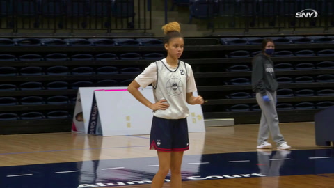 Huskies All Access: UConn guard Autumn Chassion shares her thoughts on Geno Auriemma