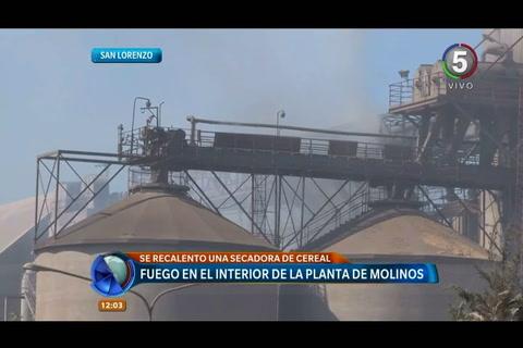 Molinos reveló que el incendio en San Lorenzo no hubo heridos y las pérdidas fueron menores
