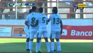 ¡GOL DE PLATENSE! Rundell Winchester abre el marcador 1-0 ante el Honduras Progreso