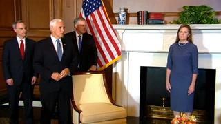 La nominada por Trump a la Suprema Corte EEUU se reúne con senadores republicanos