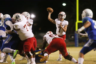 Liberty's Kenyon Oblad sets state passing record in win over Green Valley