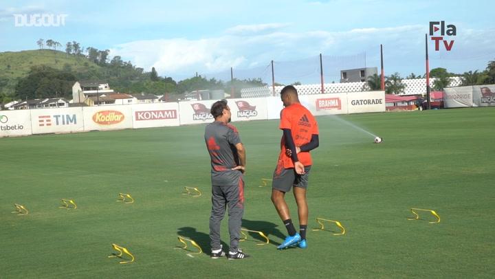 Flamengo's training session ahead of Taça Guanabara debut