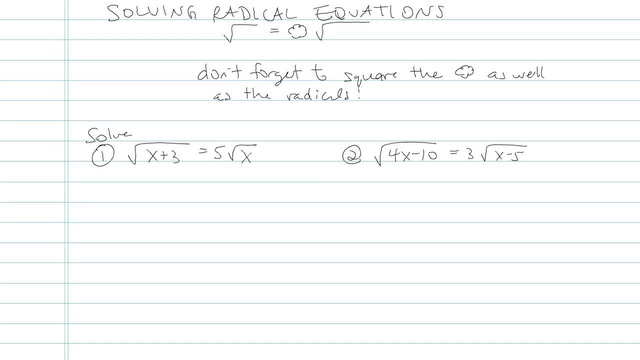 Solving an Equation with Radicals - Problem 11