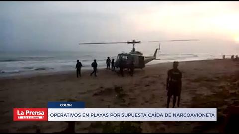 Operativos en playas de Colón por supuesta caída de narcoavioneta