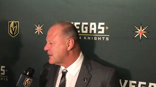 Golden Knights coach Gerard Gallant talks about Tuesday's win over Colorado
