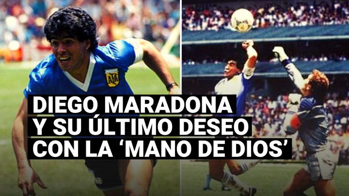 Diego Maradona y el sueño de hacerle otro gol con la mano a los ingleses