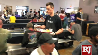Vegas Golden Knights prospects serve a special meal
