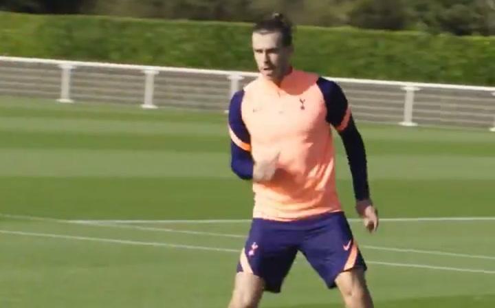 Gareth Bale, entrenando con el Tottenham