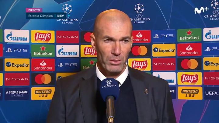 Las declaracoines de Zidane tras la derrota en Kiev