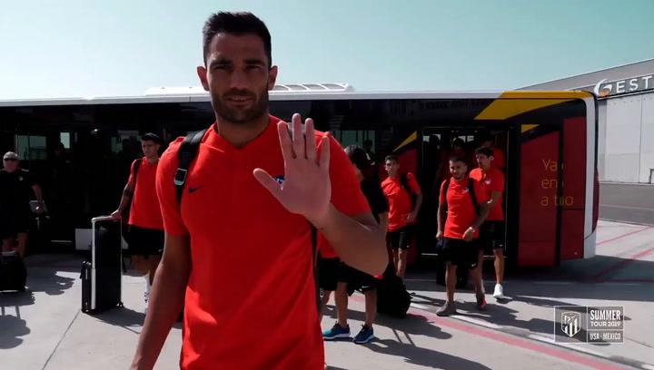 El Atlético de Madrid ya está en Estados Unidos