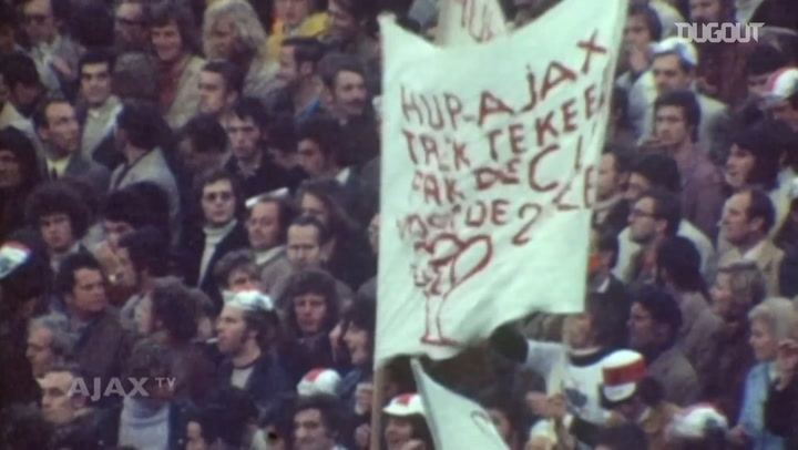 Ajax win the 1972 European Cup