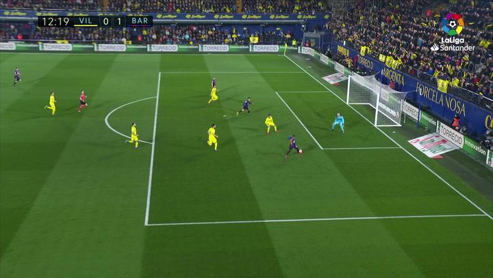 LaLiga. Villarreal-Barça. Gol de Coutinho (0-1)