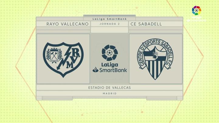 LaLiga Smartbank (Jornada 2): Rayo 2-1 Sabadell
