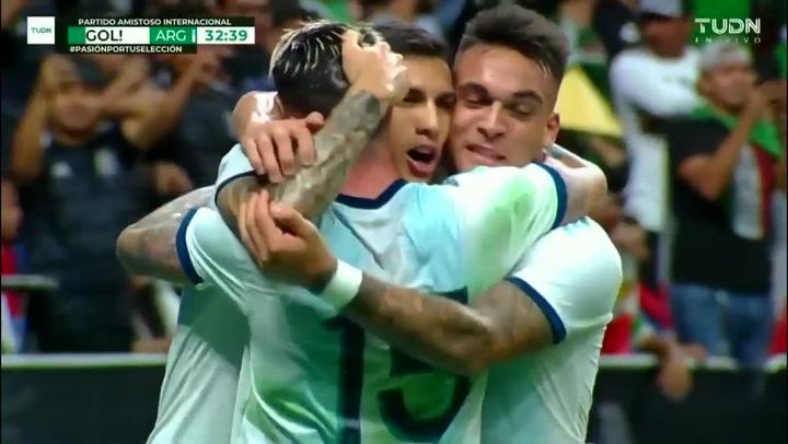Argentina se da un festín con México (4-0) en un amistoso en San Antonio