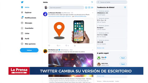 Twitter cambia la imagen de su versión de escritorio