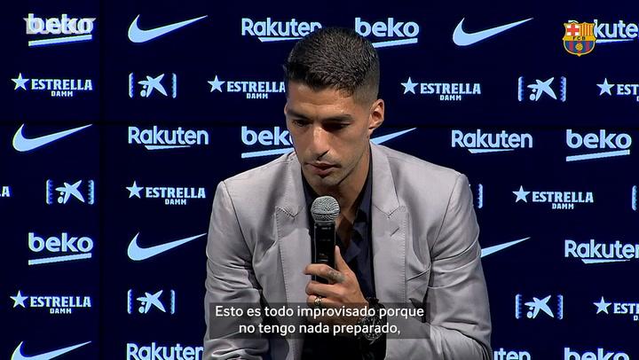 Luis Suárez se despide del Barcelona