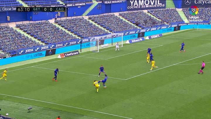Gol de Timor (p.p.) (0-1) en el Getafe 0-1 Cádiz