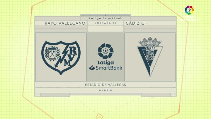 LaLiga SmartBank (J15): Resumen y goles del Rayo Vallecano 1-1 Cádiz