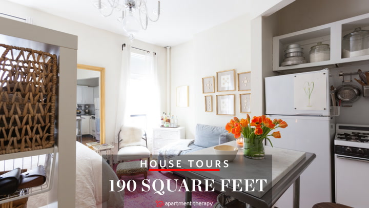 house tour: small but sweet 190-square-foot nyc studio | apartment