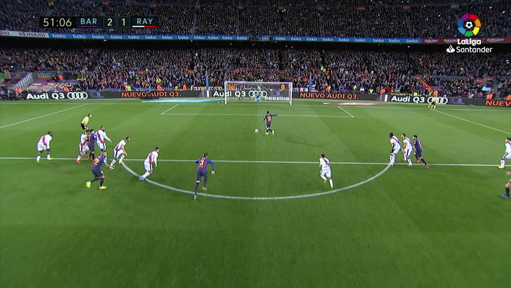 LaLiga: Barça-Rayo. Gol de Messi de penalti (2-1)