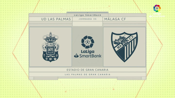 LaLiga SmartBank (J35): Resumen y goles de Las Palmas 1-1 Málaga