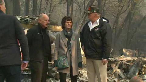 Trump visita una california devastada por incendios