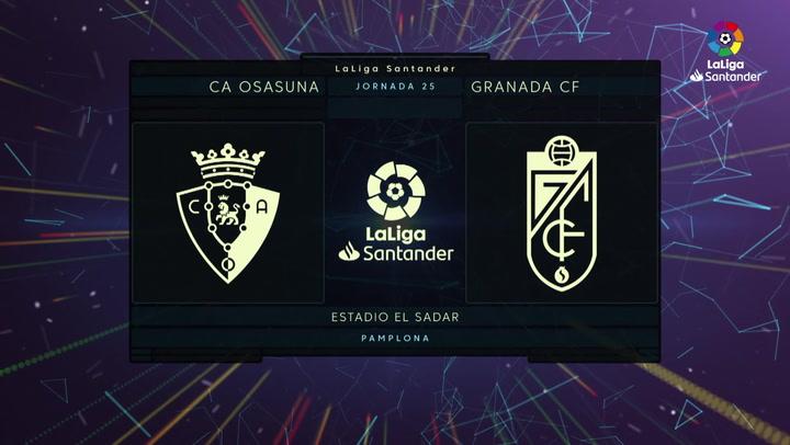 Resumen del C.A. Osasuna 0-3 Granada