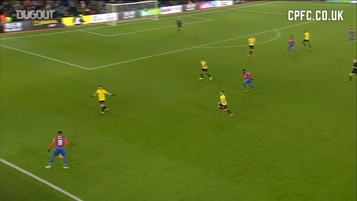 Wilfried Zaha's expert assist vs Watford