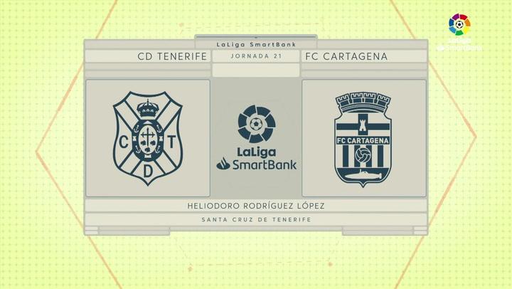 LaLiga SmartBank (J21): Resumen y goles del Tenerife 3-0 Cartagena