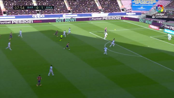 Gol de Ansu Fati (1-1) en el Barcelona 1-3 Real Madrid