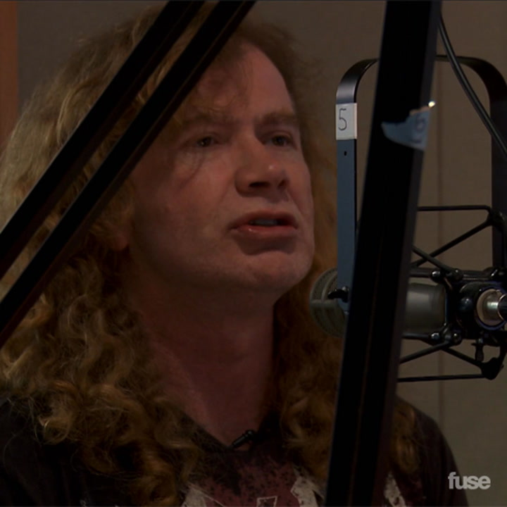 Megadeth Visits Sirius XM & Dave Mustaine Gives Away His Guitar, Fuse Follows
