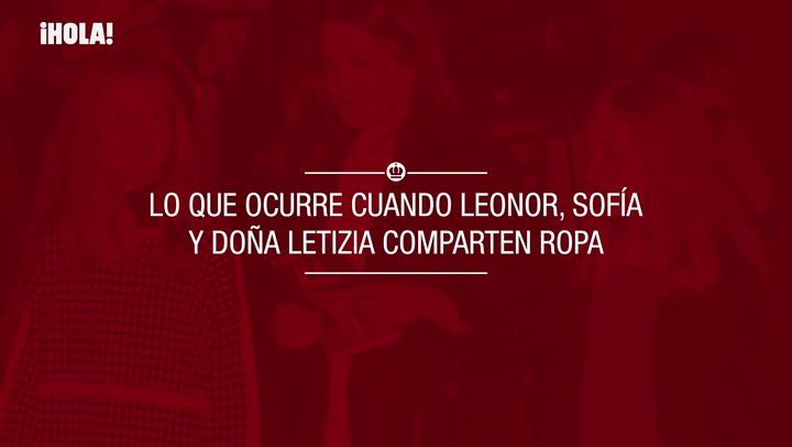 Lo que ocurre cuando Leonor, Sofía y doña Letizia comparten ropa