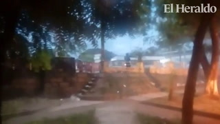 Batalla campal entre protestantes y militares en Choluteca
