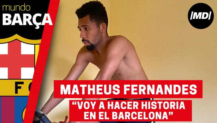Entrevista a Matheus Fernandes, fichaje del Barça cedido al Real Valladolid